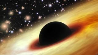 Representação artística de buraco negro (Foto: PA)