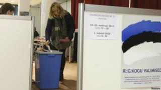 Участок для голосования в Эстонии