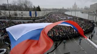 Марш памяти Немцова в Москве