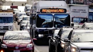 Автобус в Сиэтле