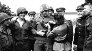 Встреча советских и американских войск на Эльбе близ города Торгау 26 апреля 1945 г.