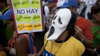 Protesto na Venezula contra escassez e inflação (AP)