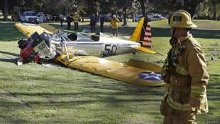 Потерпевший аварию самолет