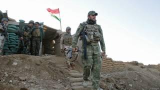 Abasirikare b'aba Peshmerga ku kirindiro cabo