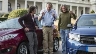 Джереми Кларксон (в центре) и его соведущие