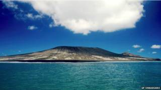 ज्वालामुखी विस्फोट से बना नया द्वीप