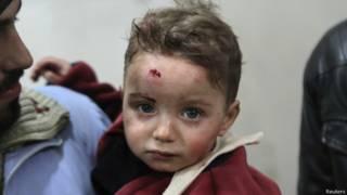 Criança síria próxima a Damasco | Foto: Reuters
