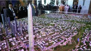 Макет новой столицы Египта