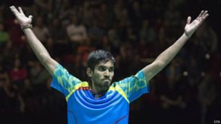 श्रीकांत ने डेनमार्क के विक्टर एक्सेलसेन को हराया