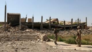 Разрушенный мавзолей Саддама Хусейна