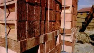 a pile of bricks
