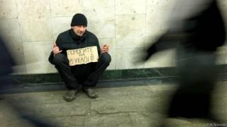 Попрошайка в московском метро
