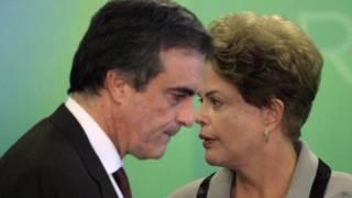 José Eduardo Cardozo e Dilma Rousseff (EPA)