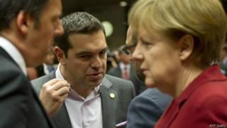 Tsipras y Merkel