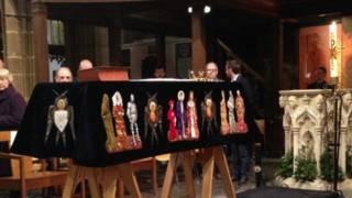 理查三世灵柩在莱斯特大教堂