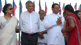 ranil and sirisena with kumarathunga