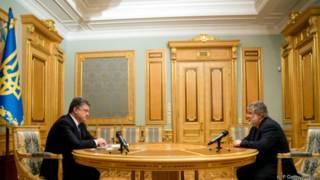 Президент Петр Порошенко и губернатор Днепропетровской области Игорь Коломойский
