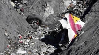 Destroços do voo da Germanwings (Reuters)