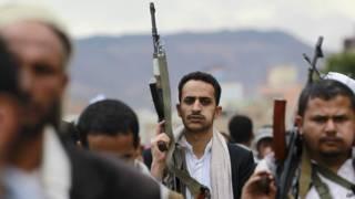 यमन में हूती विद्रोही- एपी