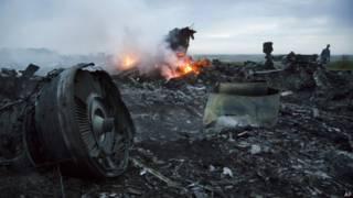 Обломки самолета МН17
