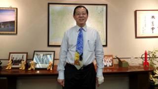 林冠英在槟城州政府大楼接受BBC中文网专访