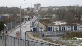 Эстонско-российская граница в Нарве