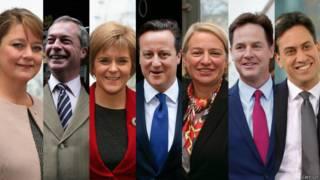 лидеры партий Британии