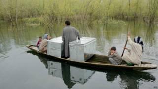 श्रीनगर के साइदा कदल में बाढ़