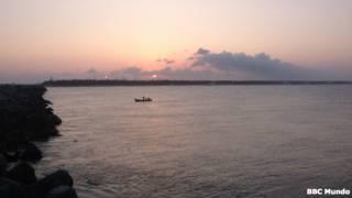 Playa Miramar vista desde la escollera
