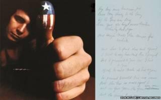 """Carátula original de """"American Pie"""" y el manuscrito"""