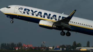 Voo da Ryanair em aeroporto francês (AFP)