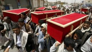 يبكون ضحاياهم في اليمن