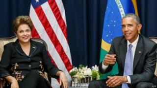 Dilma e Obama na Cúpula das Américas (AFP)
