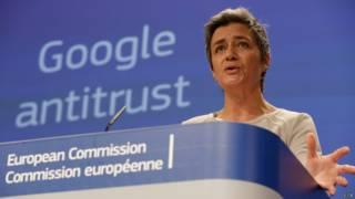Margrether Vestager, comisaria de Competencia de la UE.
