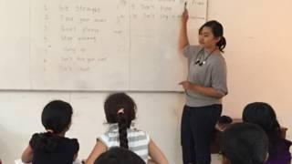 Kelas anak pengungsi