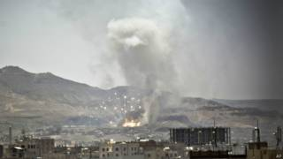 सना में सउदी अरब के हवाई हमले