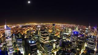 Мельбурн ночью