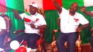 Prezida Nkurunziza mu kwiyamamaza