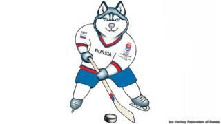 """""""Лайка живет в Сибири. С детства очень любит кататься на коньках. Лайка - первоклассный хоккеист. Он очень быстрый и смелый"""""""