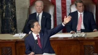 Синдзо Абэ в конгрессе