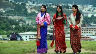 Бутанские девушки