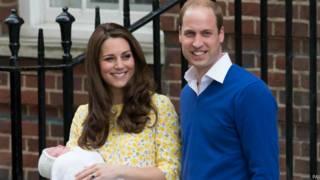 Кейт и Уильям с Шарлоттой