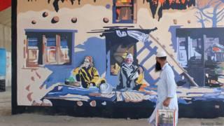 कश्मीर दीवारों पर पेंटिंग