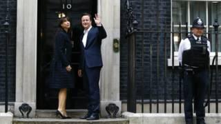 Дэвид Кэмерон с женой