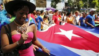 Акция ЛГБТ на Кубе