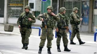 Македонская полиция в Куманово