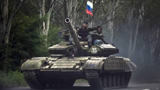 Танк под российским флагом
