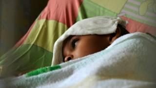 Una niña enferma