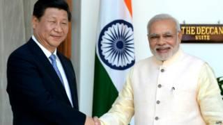 चीनी राष्ट्रपति शी जिनपिंग और प्रधानमंत्री नरेंद्र मोदी