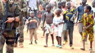 Soldados franceses en misión en República Centroafricana